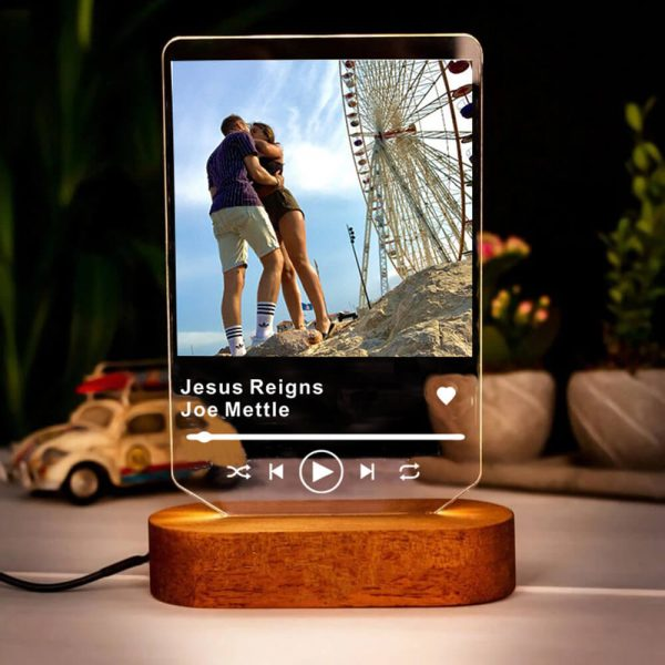 what song was number one in your life custom gift night light